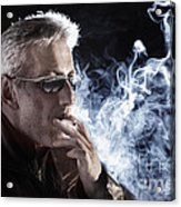 Man Smoking Cigarette Acrylic Print
