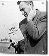Man Studying A Golf Book Acrylic Print