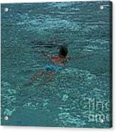 Man Swimming Acrylic Print