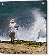 Man Versus The Sea Acrylic Print