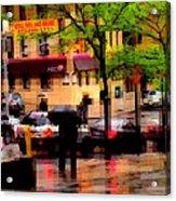 Reflections - New York City In The Rain Acrylic Print