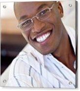 Man Wearing Glasses Acrylic Print
