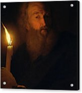 Man With A Candle Acrylic Print