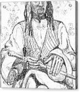 Man With Chinese Violin Acrylic Print