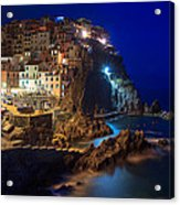 Manarola At Night Acrylic Print