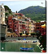 Waterfront - Vernazza - Cinque Terre - Abstract Acrylic Print