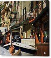 Manarola  Street - Cinque Terre Acrylic Print