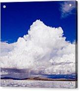 Manasarovar Mountain Lake Panoramic Acrylic Print