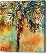 Manasota Key Palm 2 Acrylic Print