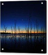 Manasquan Reservoir At Dawn Acrylic Print