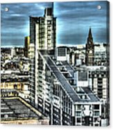 Manchester Buildings Hdr Acrylic Print