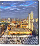 Manchester Skyline Panoramic Hdr Acrylic Print
