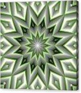 Mandala 107 Green Acrylic Print