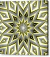 Mandala 107 Yellow Acrylic Print