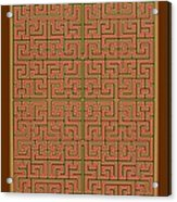 Mandala. 85 Acrylic Print