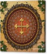 Mandala Armenian Cross Sp Acrylic Print by Bedros Awak