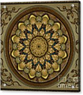 Mandala Earth Shell Sp Acrylic Print by Bedros Awak