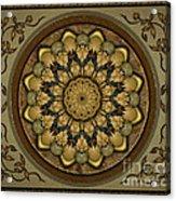 Mandala Earth Shell Sp Acrylic Print by Bedros Awak