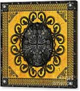 Mandala Obsidian Cross Acrylic Print