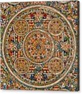 Mandala Of Heruka In Yab Yum And Buddhas Acrylic Print