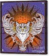 Mandala Owl Acrylic Print