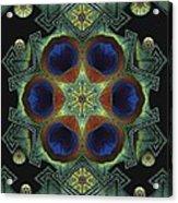 Mandala Peacock  Acrylic Print