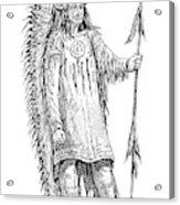 Mandan Indian Chief Acrylic Print