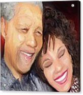 Mandela And Whitney Acrylic Print