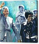 Mandela - Leaving Prison Acrylic Print