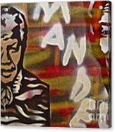 Mandela Acrylic Print by Tony B Conscious