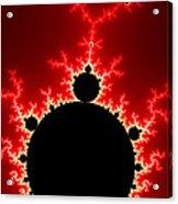 Mandelbrot Fractal Flash Power Red And Black Acrylic Print