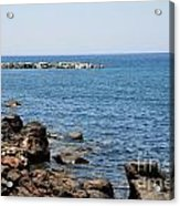 Mandraki Coastline Nisyros Acrylic Print