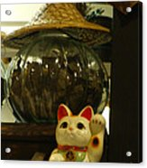 Maneki Neko Japanese Beckoning Money Cat 02 Acrylic Print