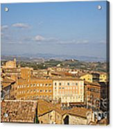 Mangia Tower Piazzo Del Campo  Siena  Acrylic Print