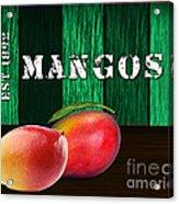 Mango Farm Sign Acrylic Print