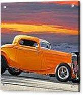 Mango Madness 1933 Ford Hiboy Coupe Acrylic Print