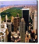 Manhattan And Central Park Acrylic Print