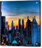 Manhattan At Sunset Acrylic Print