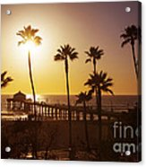 Manhattan Beach At Sunset Acrylic Print