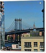 Manhattan Bridge From Brooklyn Acrylic Print