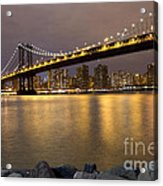 Manhattan Bridge Lights  Acrylic Print