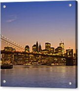 Manhattan Brooklyn Bridge Acrylic Print