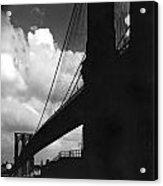 Manhattan Brooklyn Bridge View Acrylic Print