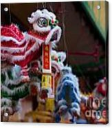 Manhattan Chinatown Decorations Acrylic Print