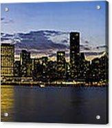 Manhattan From Gantry Acrylic Print