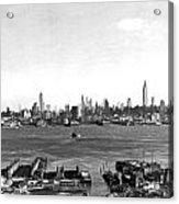 Manhattan From New Jersey Acrylic Print