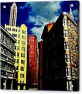 Manhattan Highlights Acrylic Print by Benjamin Yeager