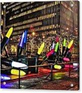 Manhattan Holiday Decorations Acrylic Print