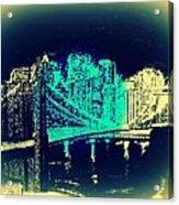 Manhattan In Blue Acrylic Print