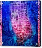 Manhattan Map Abstract 5 Acrylic Print